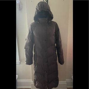 Tommy Hilfiger Brown Long Puffer Coat Size XL